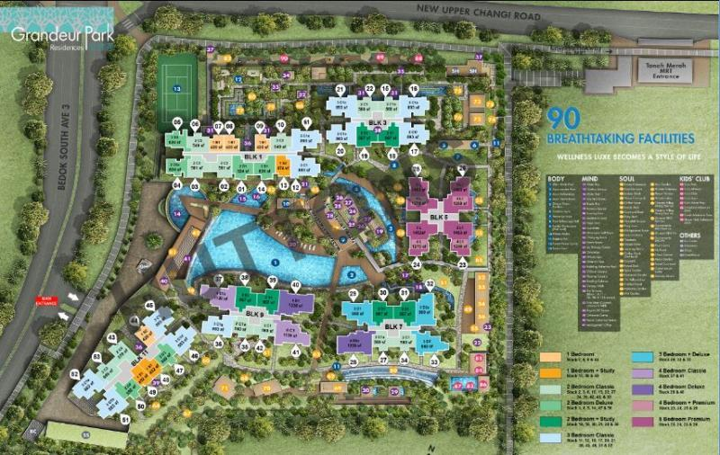 Grandeur-Park-Residences site map