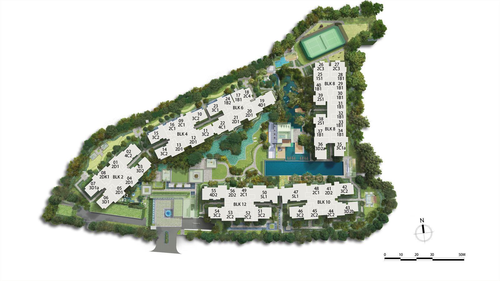 Park Colonial site map