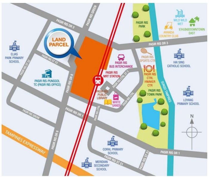 Pasir-Ris-Central-residences-Location-Map
